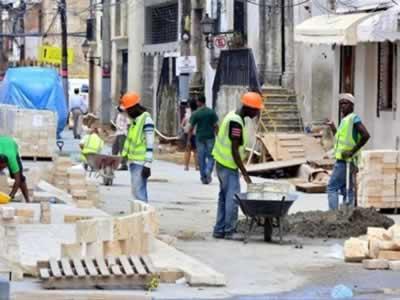 Trabajadores de la construcción en República Dominicana